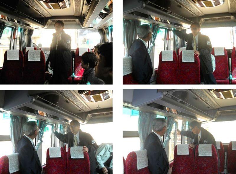 緊急時対応訓練 バス非常口講習