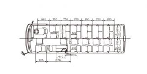 マイクロバス-車内図