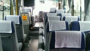マイクロバス 車内1